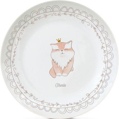 Assiette en porcelaine Chat (personnalisable)  par Gaëlle Duval