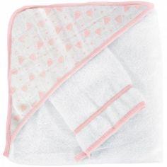 Cape de bain + gant pastèque (70 x 70 cm)