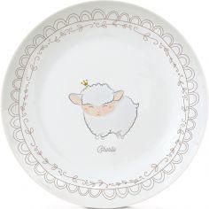 Assiette en porcelaine Mouton (personnalisable)
