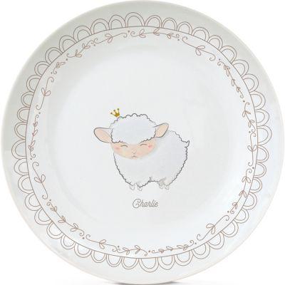 Assiette en porcelaine Mouton (personnalisable)  par Gaëlle Duval