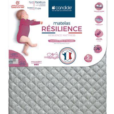 Matelas de lit bébé Résilience déhoussable (140 x 70 cm)