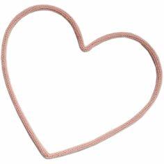 Déco murale coeur en tricotin (coloris personnalisable)