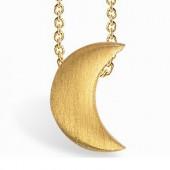 Collier chaîne 40 cm pendentif Full lune 07 mm (vermeil doré) - Coquine