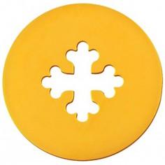 Médaille Signes Croix Occitane 16 mm (or jaune 750°)