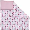 Housse de couette pour berceau Mixed Stars Pink (80 x 80 cm) - Little Dutch