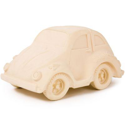 Grande voiture Coccinelle latex d'hévéa blanche  par Oli & Carol
