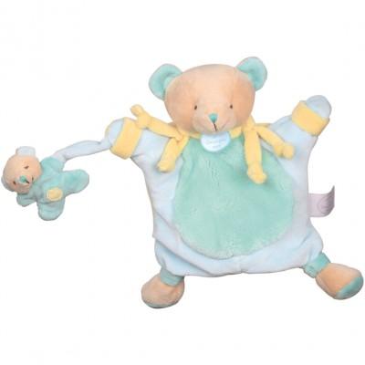 Doudou marionnette ours menthe (24 cm) Doudou et Compagnie