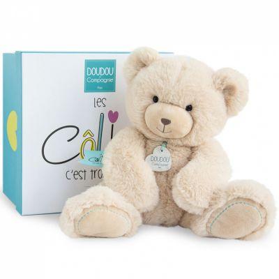 Peluche ours beige (22 cm) Doudou et Compagnie