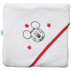 Cape de bain Mickey liseré rouge (80 x 80 cm)