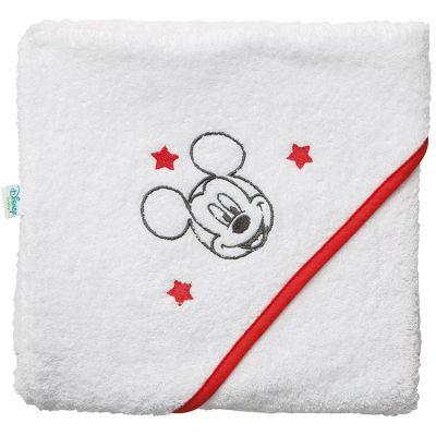 Cape de bain Mickey liseré rouge (80 x 80 cm)  par Babycalin