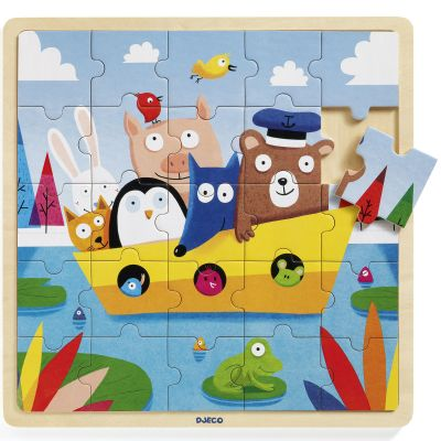 Puzzle en bois Puzzlo Boat (25 pièces)  par Djeco