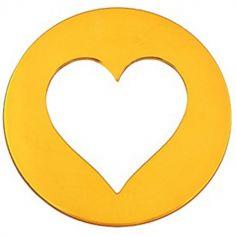 Mini bijou coeur sur cordon (or jaune 18 carats)