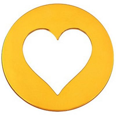 Mini bijou coeur sur cordon (or jaune 18 carats)  par Maison La Couronne