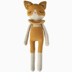 Peluche chat ocre (18 cm)
