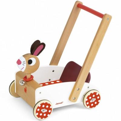 Chariot de marche crazy rabbit  par Janod