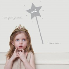 Sticker Je serai une princesse