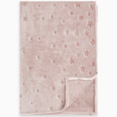 Couverture bébé Weekend Constellation étoiles rose