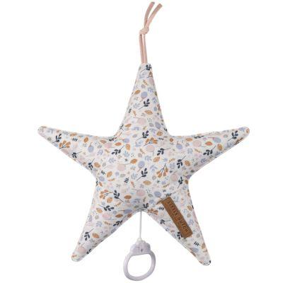 Coussin musical à suspendre étoile Spring flowers (27 cm)  par Little Dutch