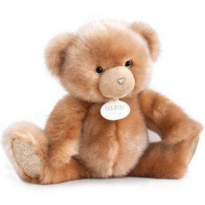 Peluche ours beige La Peluche (30 cm)  par Doudou et Compagnie