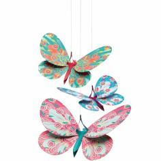 Mobile Papillons paillettes