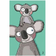 Tableau koalas (14 x 22 cm)