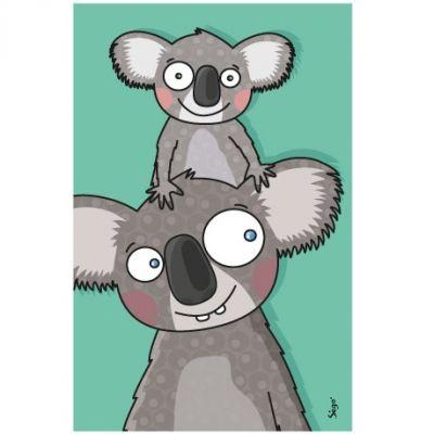 Tableau koalas (14 x 22 cm)  par Série-Golo