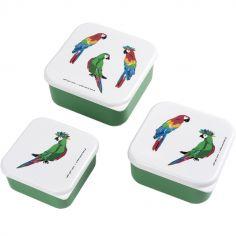 Lot de 3 boîtes à goûter Le Petit Lucas Du Tertre Le Perroquet