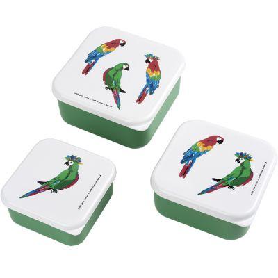 Lot de 3 boîtes à goûter Le Petit Lucas Du Tertre Le Perroquet Petit Jour Paris