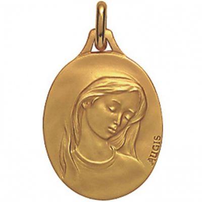 Médaille ovale de la Vierge (or jaune 750°)
