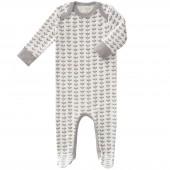 Pyjama léger Feuille gris (naissance : 50 cm) - Fresk
