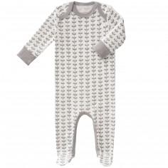 Pyjama léger Feuille gris (naissance : 50 cm)