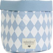 Panier de toilette Mambo Losange bleu clair (25 x 26 cm) - Nobodinoz