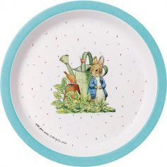 Assiette Pierre Lapin bleue (18 cm)