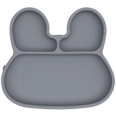 Assiette à compartiments lapin gris  par We Might Be Tiny