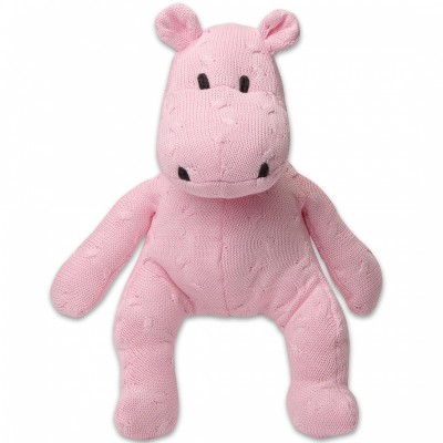 Peluche hippopotame Cable Uni rose (35 cm) Baby's Only