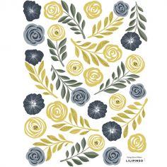 Planche de stickers Fleurs & plumes