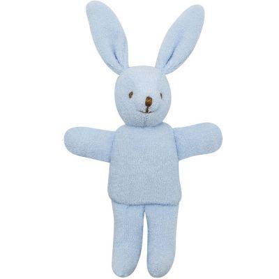 Hochet peluche lapin bleu (12 cm)