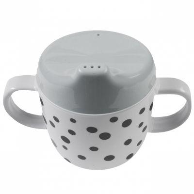 Tasse à bec Happy Dots gris (230 ml)  par Done by Deer