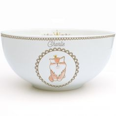 Bol en porcelaine Chat (personnalisable)