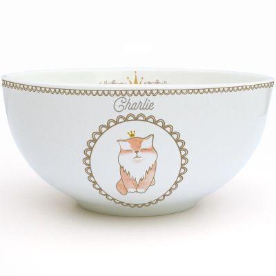 Bol en porcelaine Chat (personnalisable)