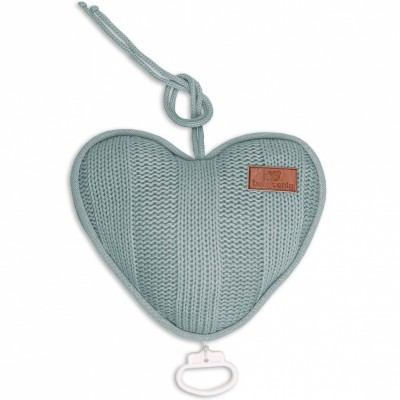 Coussin musical coeur Robust Mix gris vert (26 cm) Baby's Only