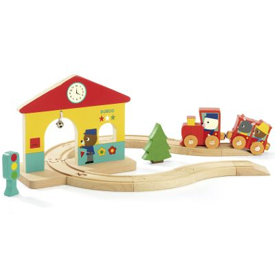 Circuit train Minitrain  par Djeco