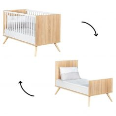 Lit bébé évolutif en lit junior Little Big Bed Seventies (70 x 140 cm)
