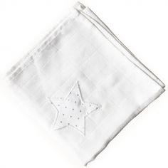 Lange Pois argentés étoile (65 x 65 cm)