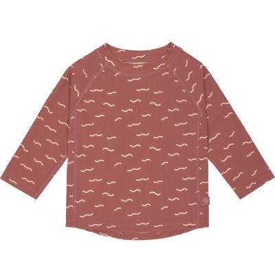 Tee-shirt anti-UV manches longues Vagues bois de rose (12 mois)