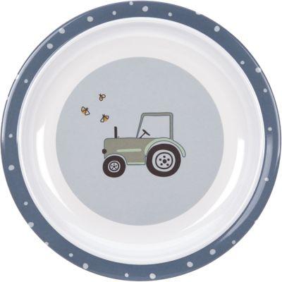 Assiette plate en mélamine Adventure tracteur  par Lässig