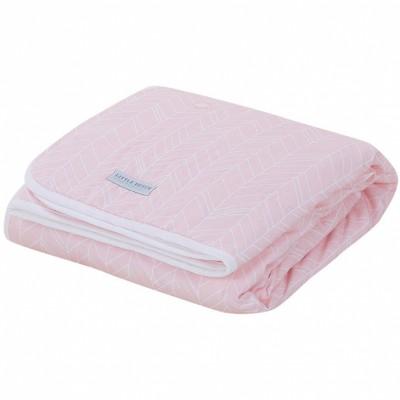 couverture de lit pure soft peach leaves 110 x 140 cm par little dutch. Black Bedroom Furniture Sets. Home Design Ideas