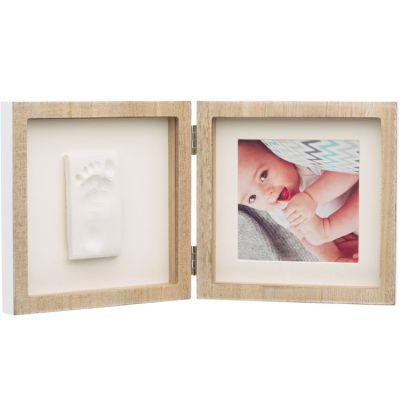Cadre photo empreinte Square en bois  par Baby Art