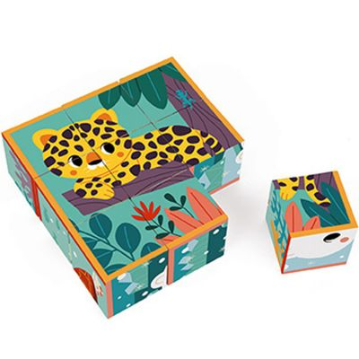 Puzzle cubes en carton Animaux WWF (9 cubes) Janod