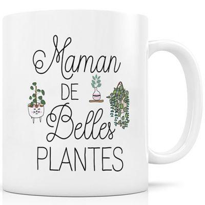 Mug en céramique Maman de belles plantes